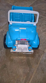 Barbie jeep blue