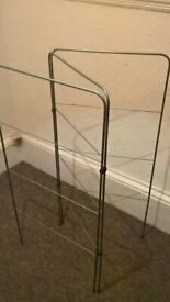 Clothes airer dryer racks. Silver or white.