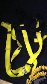 Twin leg lanyards & harness