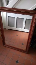 Large beveld edge mirror