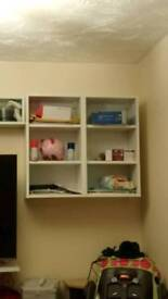 Wall units x4 and shelves x6