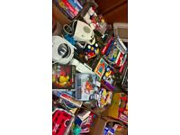 Mixed lot of items for car boot sale or market stall