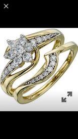 1/2 carrot diamond ring set size j