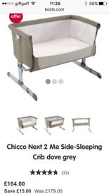 Chicco Next To Me Baby Drop-Sided Crib / Cot for co-sleeping Portslade £100ono