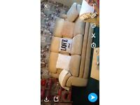 2 X matching 3 seater sofas and foot stool