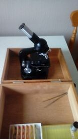 Childs microscope with sample slides