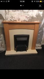 Electric fire and surround excellent condition