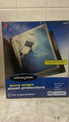 100 Heavy Duty Sheet Protectors Non Glare 21413