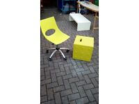 Designer office chair and matching stool