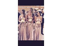 Gold bridesmaid dress size 10/12