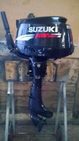 Suzuki 6hp Outboard Fourstroke for fishing boat tender Rib