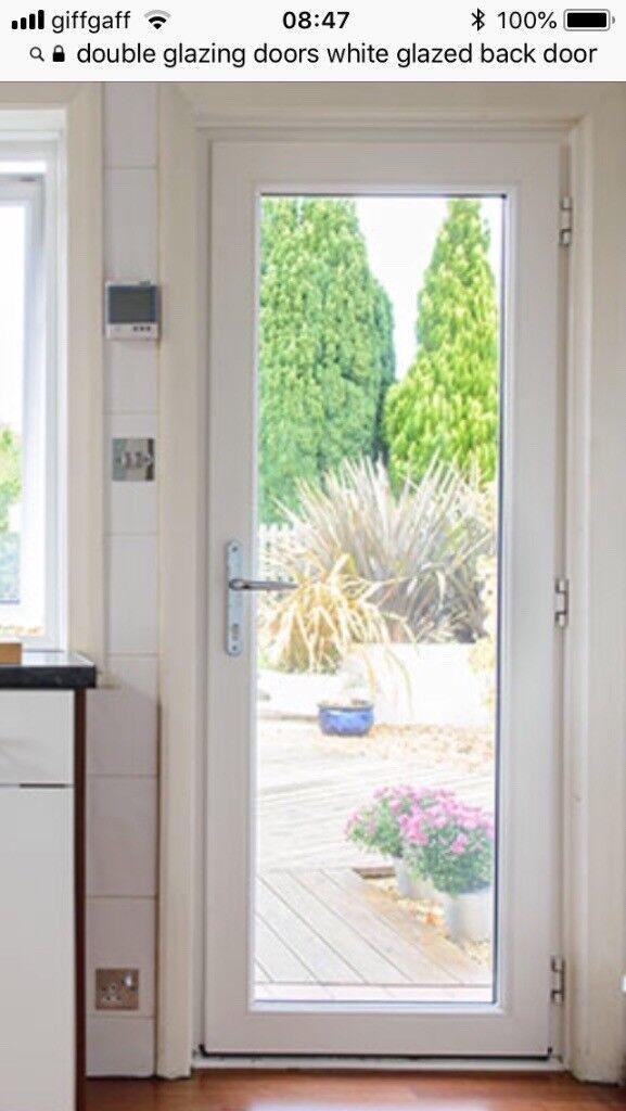 Double Glazed White Upvc Door For Sale Full Glass Unit In County