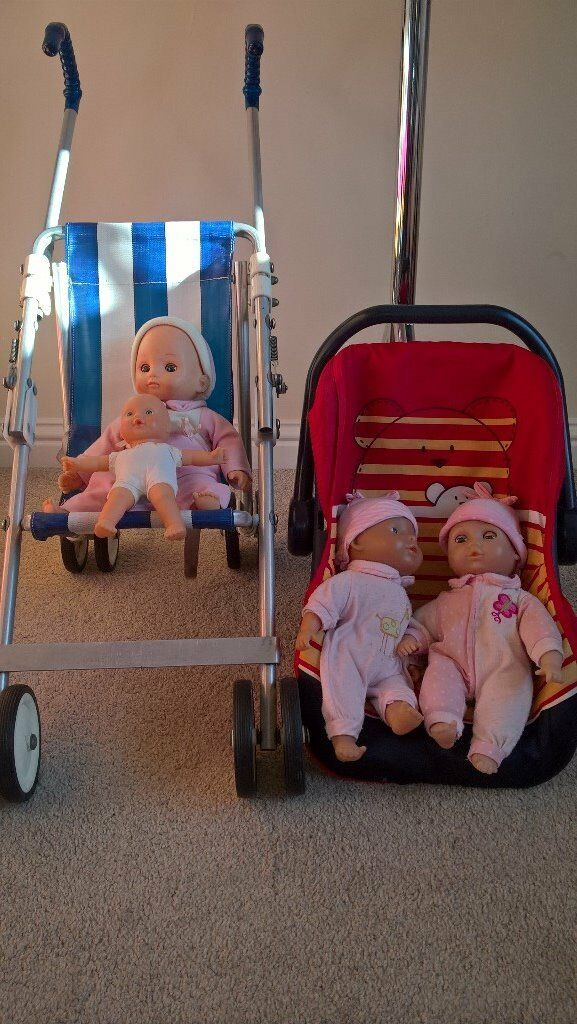 4 Baby Dolls, large pushchair and car seat | in Norwich ...