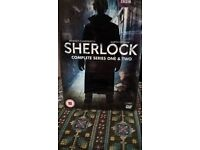 SHERLOCK Complete series 1 & 2 sealed never opened. Sold as new.