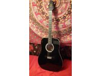 Stagg Acoustic Guitar - Black - with Stagg Carry Case