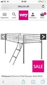 Kids mid sleeper bed frame