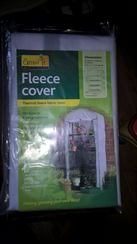 8994f9e03db Gardman 4 Tier Mini Greenhouse Fleece Cover (69cm W x 49cm D x 159cm tall)