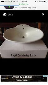 Sink table top white