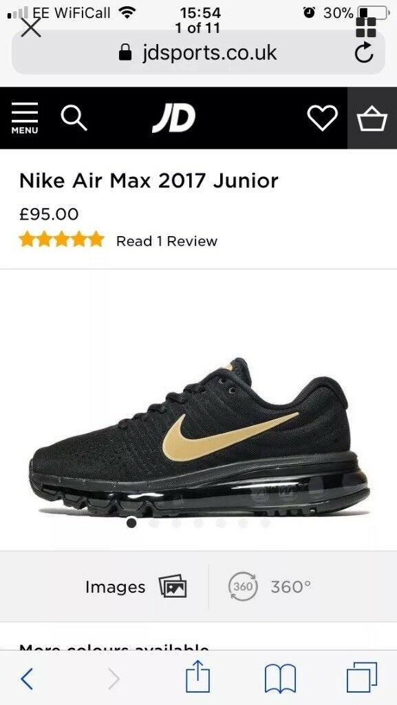 24d882be8dd6e Nike air max 2017 hardly worn size 6