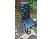 1 x Ex-display Apollo Black Leather Dining Chair.