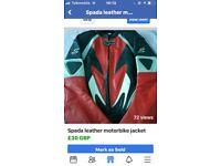 Spada leather Motorbike jacket