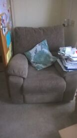 3 seat sofa (2 recline) and motorized reclining chair