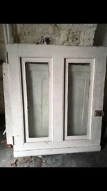 Victorian original stable door, circa 1854. Beautiful glazed top and bottom opening stable door.