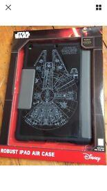 Brand new Official Disney Starwars millennium falcon iPad Air case