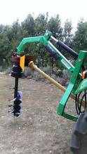 HYDRAULIC TRACTOR POST HOLE BORER DIGGER AUGER - 3 POINT LINKAGE Esk Richmond Valley Preview