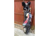Golf Clubs Howson Wilson with Bag and Trolley