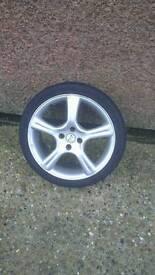 17 inch 4x100 Fox racing Evo 1 wheels with nearly new tyres