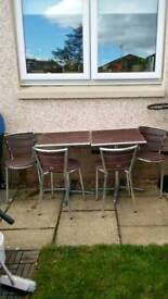 Garden tables chairs set