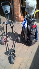 Golf clubs ,bag and trolley for sale