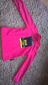 BNWT Jack Wolfskin Pink Girls Fleece to fit 9-12months