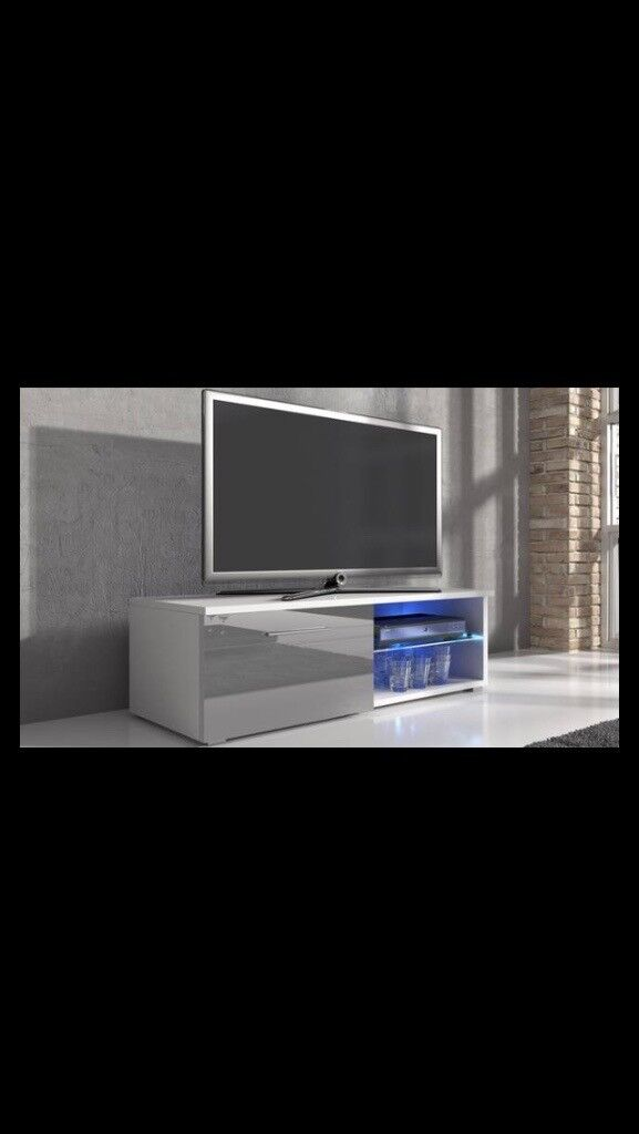 TV Unit gloss white/grey (brand new)