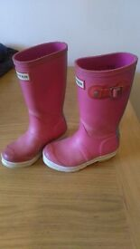 Girls hunter wellies infant size uk10