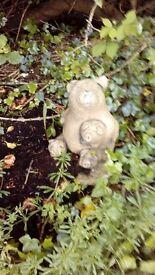 Pig family garden ornament