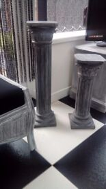 Roman shabby chic columns x2