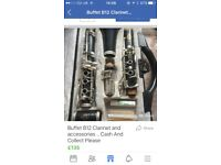 B12 buffet clarinet with accessories