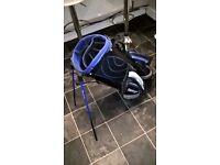slazenger golf bag in blue and black