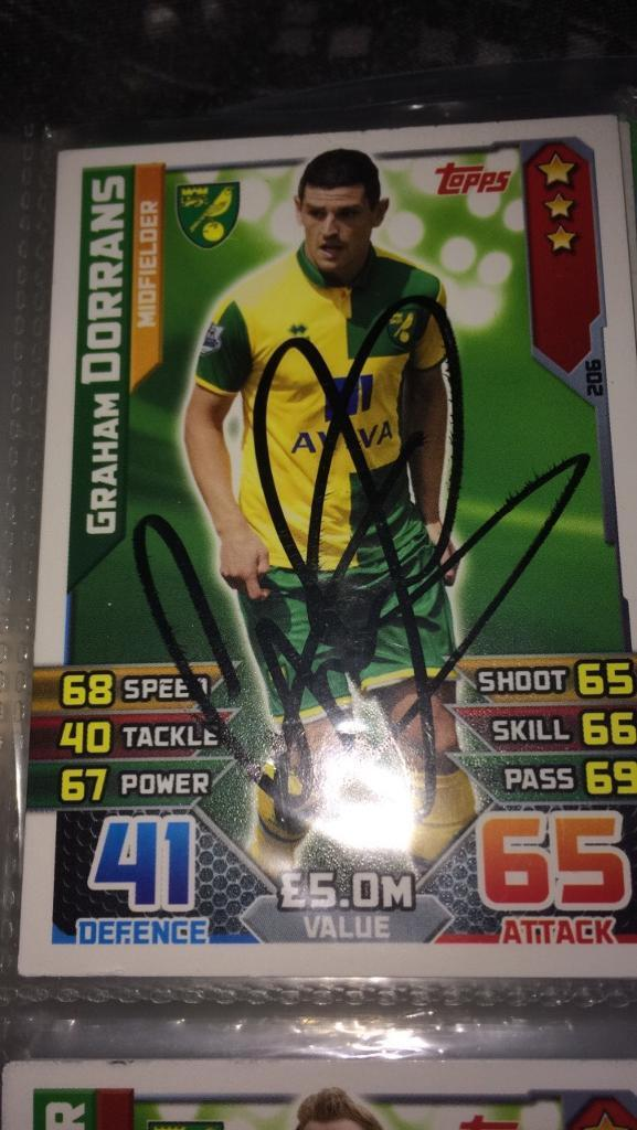 Signed match Attax 100% Authentic