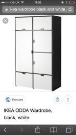IKEA black and white wardrobe