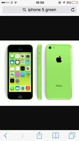 iPhone 5c green, immaculate condition