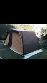 Vintage 4 man tent, frame cosrution, inner sleeping compartment , ground sheet and storage sack.