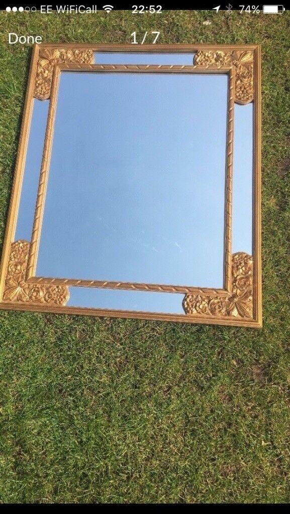 Large Gold ornate mirror