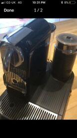 NESPRESSO COFFEE MACHINE WITH MILK FROTHER GOOD CONDITION (CITIZ MODEL). £45