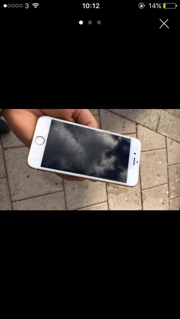 iPhone 6s gold 16gbin Luton, BedfordshireGumtree - iPhone 6s gold 16gb, cracked screen but everything else works as it should, mint condition no scratches, grab a bargain