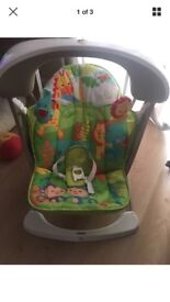 Baby swing and plays music