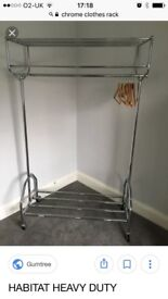 Chrome clothes rack