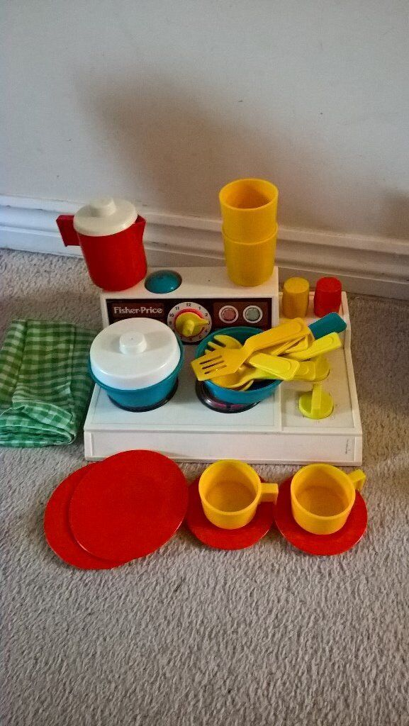 Vintage Fisher Price Stove And Kitchen Set Excellent Condition